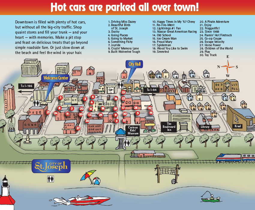 2007 Hot Cars Cool Beaches Map