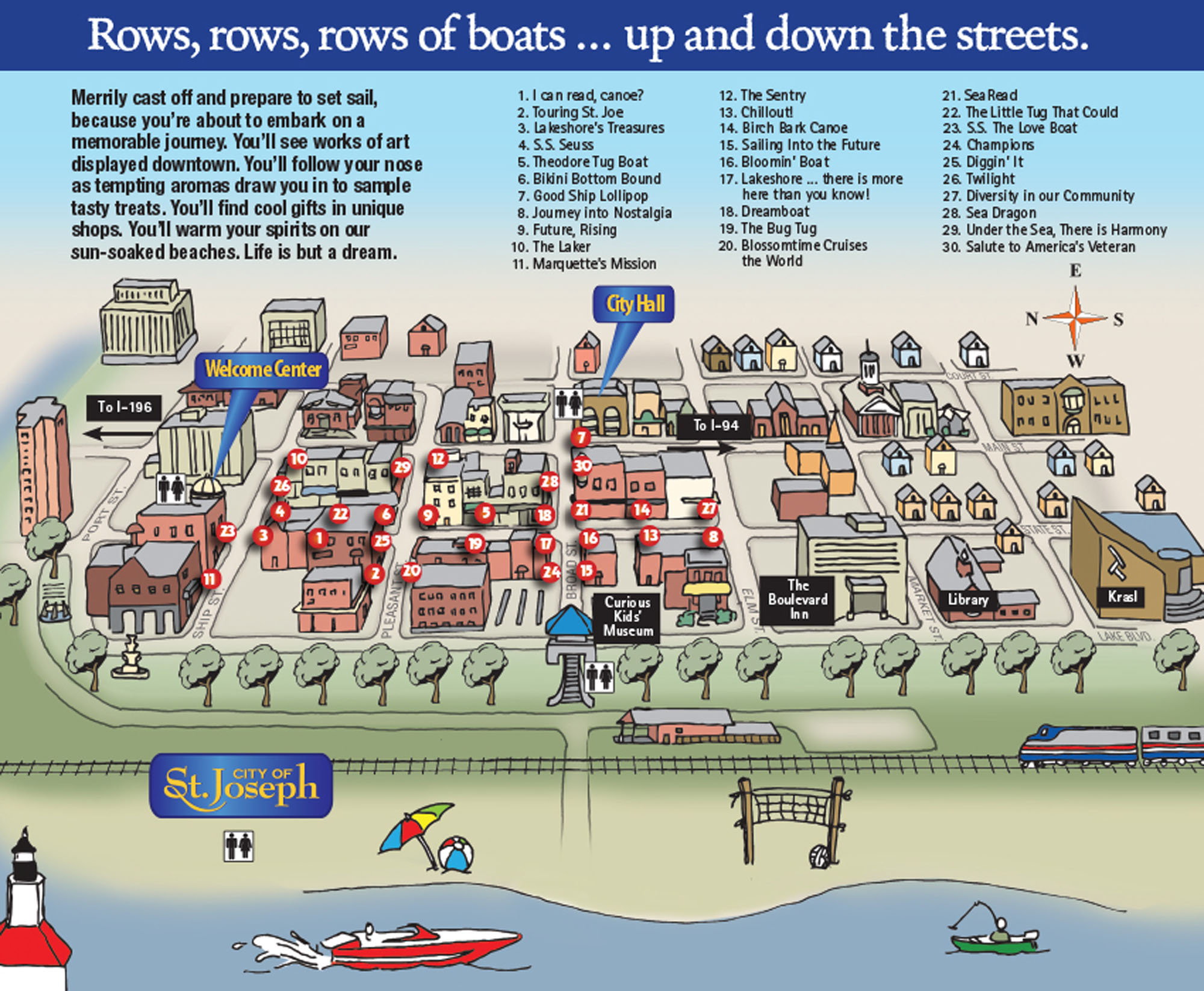 2008 Boats n Beaches map