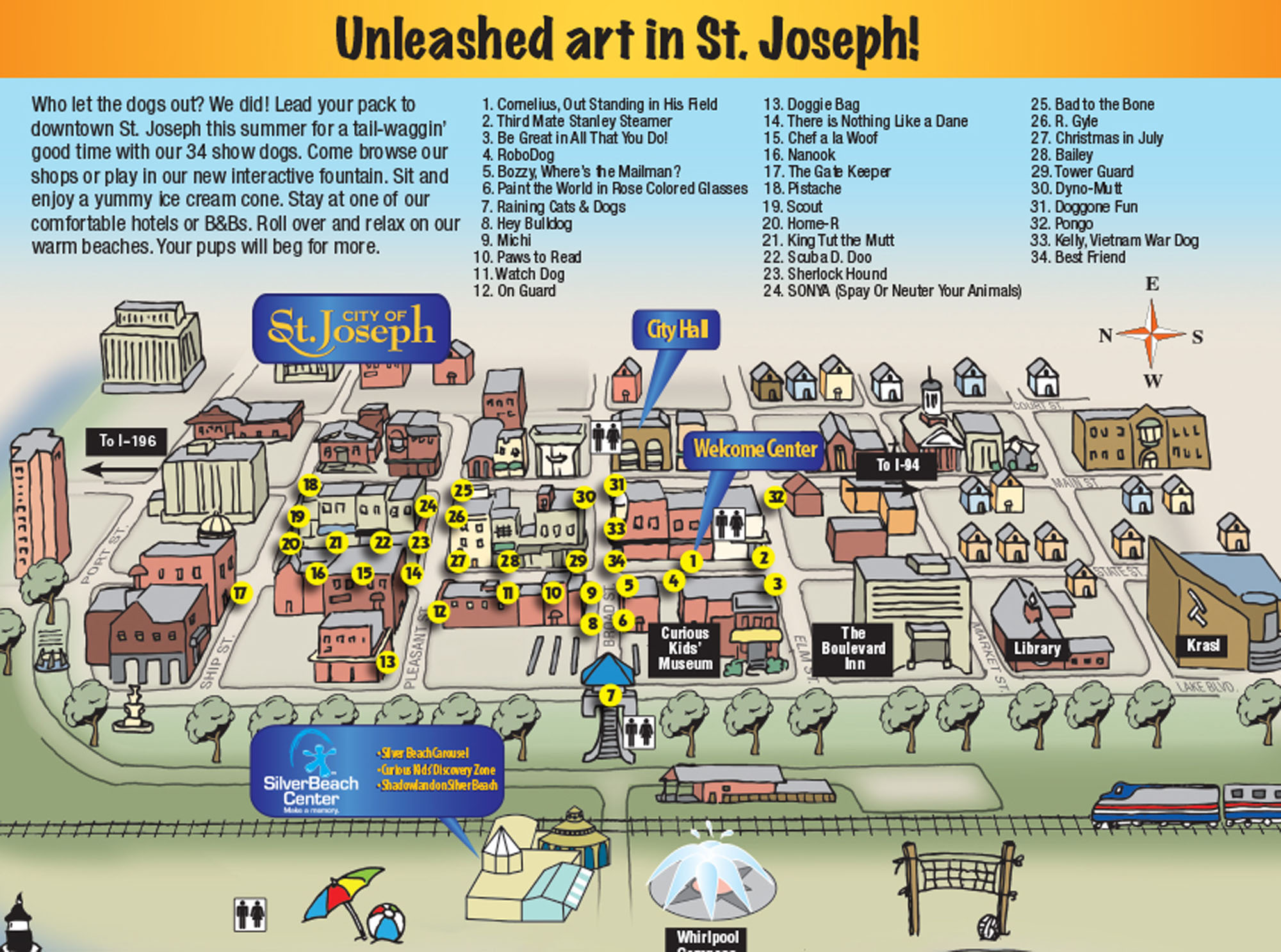 2010 Hot Diggity Dogs map